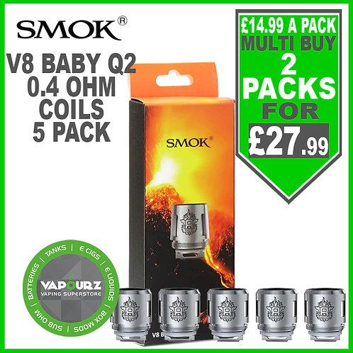 Smok TFV8 Baby Beast Coils Q2 (5 Pack) 0.4ohm