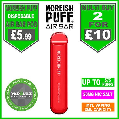 Moreish Puff Air Bar Dispoable Pod Strawberry Watermelon