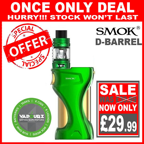 SMOK D-Barrel Kit Green + FREE 18650 Batteries
