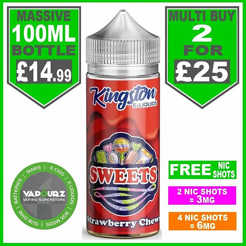 Strawberry Chews Sweets Kingston 100ml