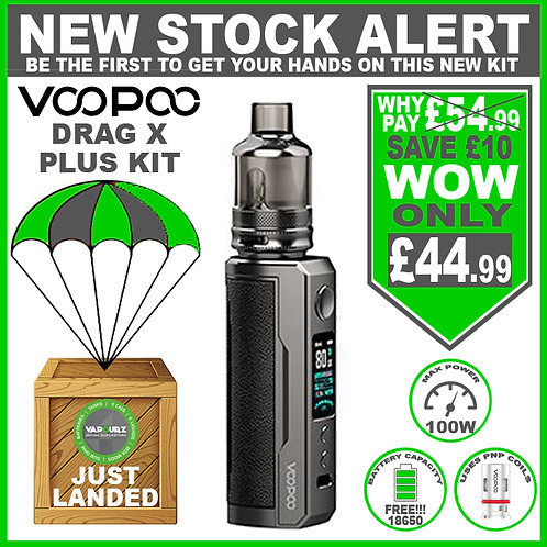 Voopoo Drag X Plus Kit Classic & FREE 18650 Battery