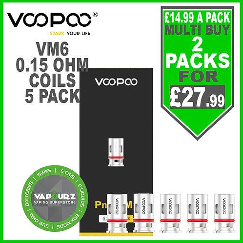 Voopoo pnp VM6 Coils 0.15ohm 5 Pack