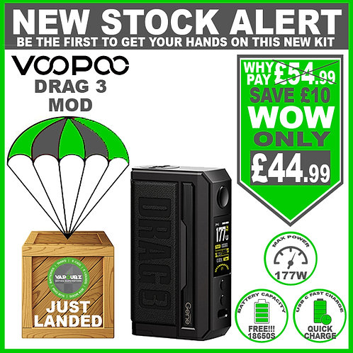 Voopoo Drag 3 Mod Classic & 2 FREE 18650 Batteries