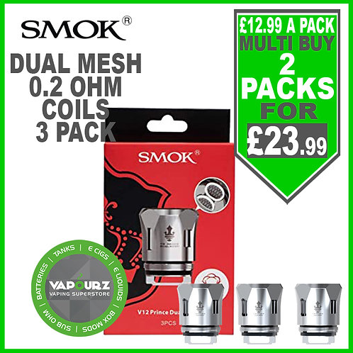 Smok Pack of 3 Prince TFV12 Dual Mesh coils