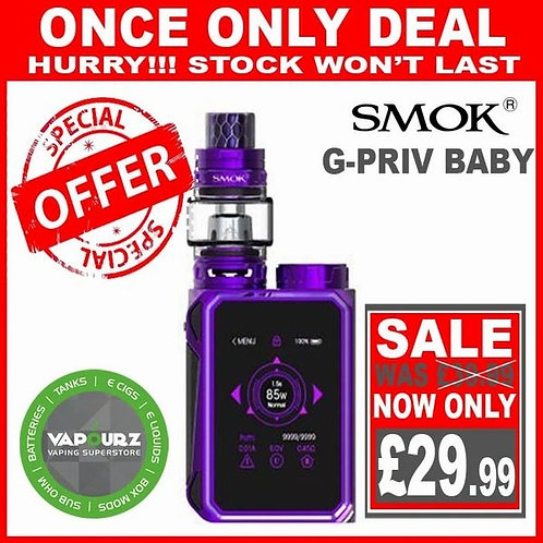 Smok G Priv Baby Kit Purple Plus Free 18650 Battery