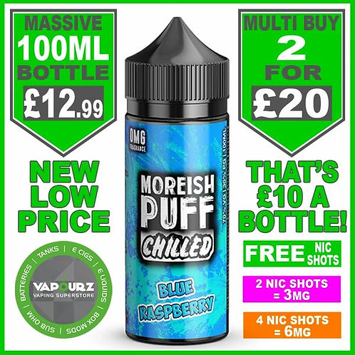 Blue Raspberry Chilled Moreish Puff 100ml
