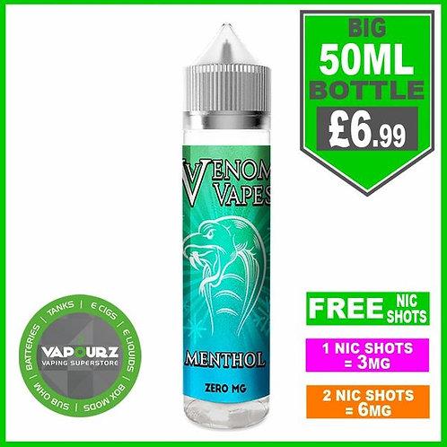 Menthol Venom Vapes 50ml