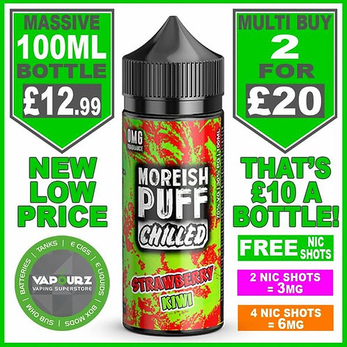 Strawberry Kiwi Chilled Moreish Puff 100ml