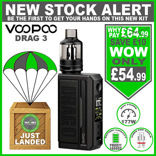 Voopoo Drag 3 Kit Classic & 2 FREE 18650 Batteries