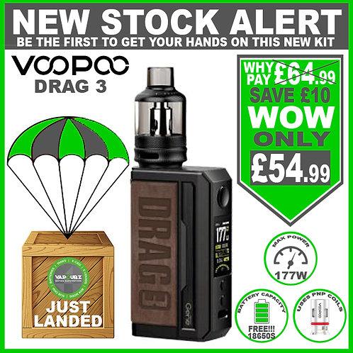 Voopoo Drag 3 Kit Sandy Brown & 2 FREE 18650 Batteries