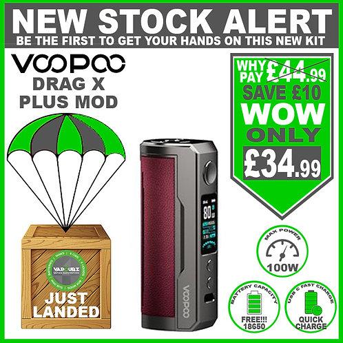 Voopoo Drag X Plus Mod Marsala & FREE 18650 Battery