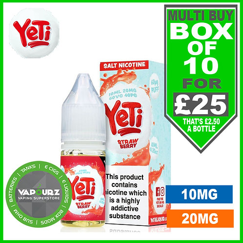 Box Deal Strawberry Yeti Nic Salts