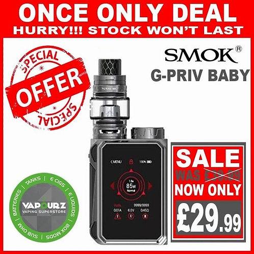 Smok G Priv Baby Kit Gun Metal Plus Free 18650 Battery