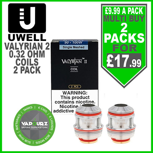 Uwell Valyrian 2 Single Meshed Coils (2 Pack) 0.32ohm