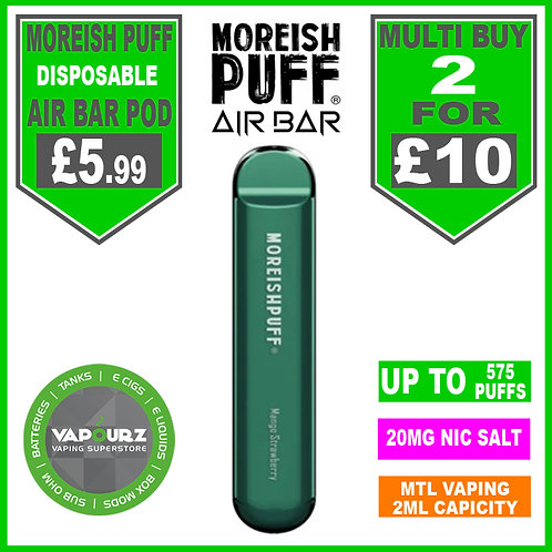 Moreish Puff Air Bar Dispoable Pod Mango Strawberry
