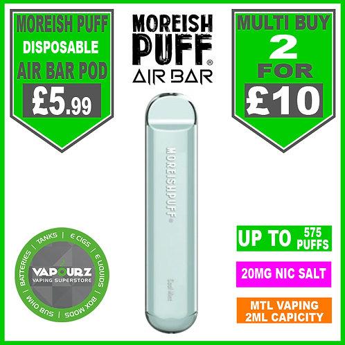 Moreish Puff Air Bar Dispoable Pod Cool Mint