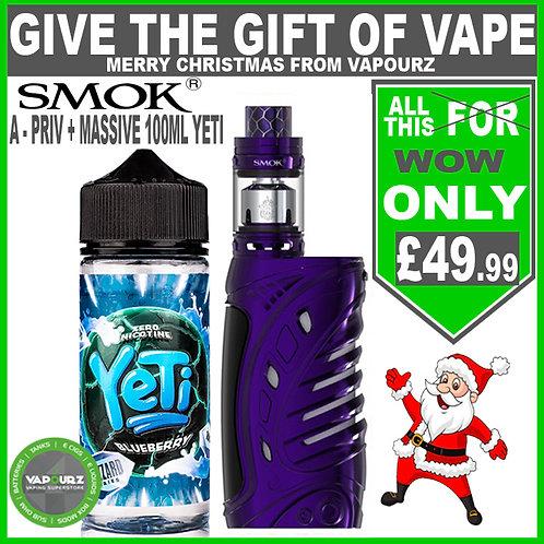 Smok A - Priv Purple Deal ( FREE batteries) + any Yeti Blizzard 100ml