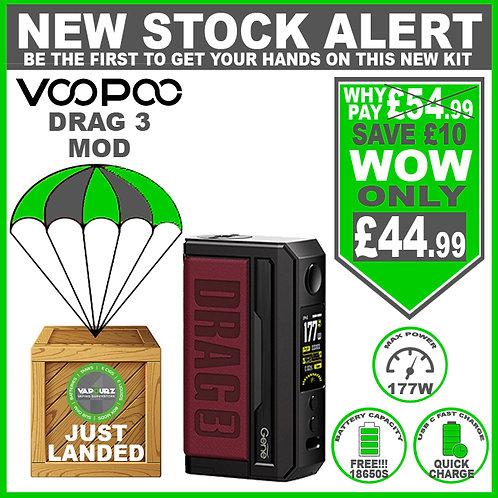 Voopoo Drag 3 Mod Marsala & 2 FREE 18650 Batteries