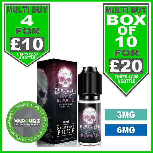 Cold Blooded Pure Evil 10ml