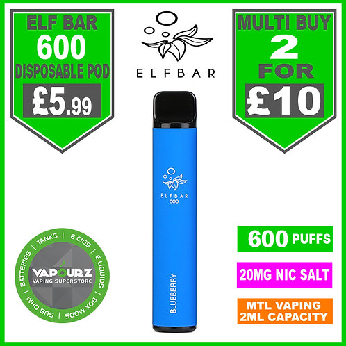 Elf Bar 600 Blueberry