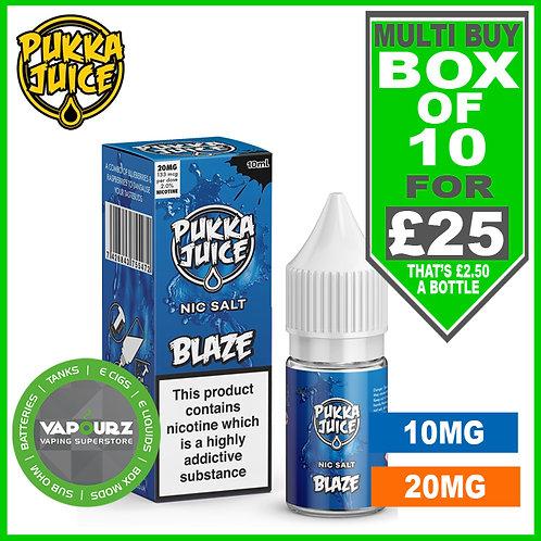 Box Deal Pukka Blaze Nic Salt 10ml