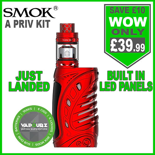 SMOK A - PRIV KIT Red + FREE 18650 BATTERIES