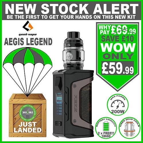 Geekvape Aegis Legend Zeus Kit Black Gunmetal & 2 x FREE 18650's
