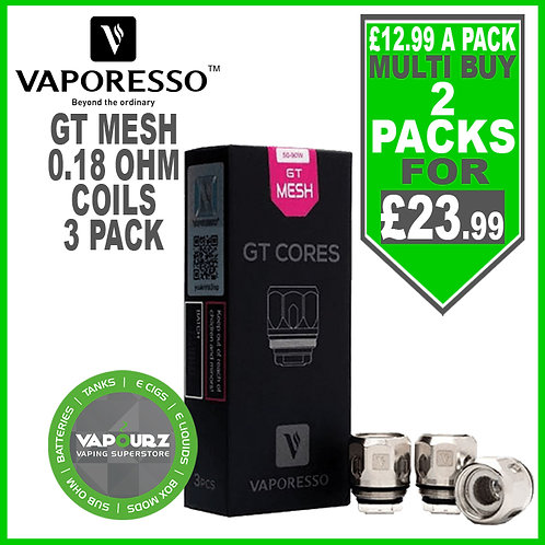 Vaporesso GT Mesh Coils 3 Pack 0.18ohm