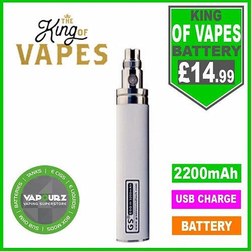 The King Of Vapes EGO-11 2200mAh Battery White