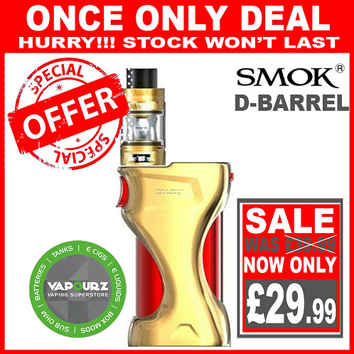 SMOK D-Barrel Kit Gold + FREE 18650 Batteries