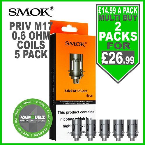 Smok Priv M17 0.6ohm coils 5 pk
