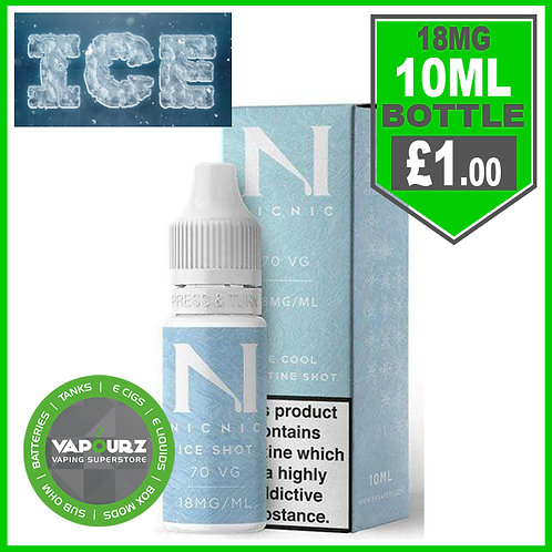 Iced Nic Shot 10ml 18mg 70%VG