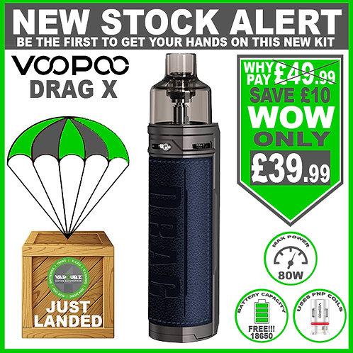 Voopoo Drag X Kit Galaxy Blue Plus FREE 18650 Battery