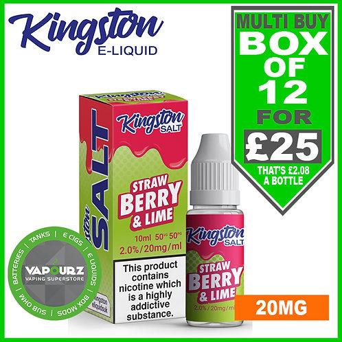 Box Deal Kingston Strawberry Lime Nic Salt 20mg