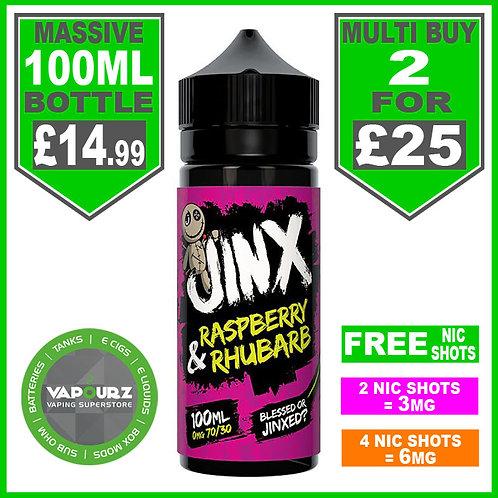 Jinx Raspberry & Rhubarb 100ml