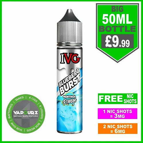 IVG Blueberg Burst Menthol Range 50ml
