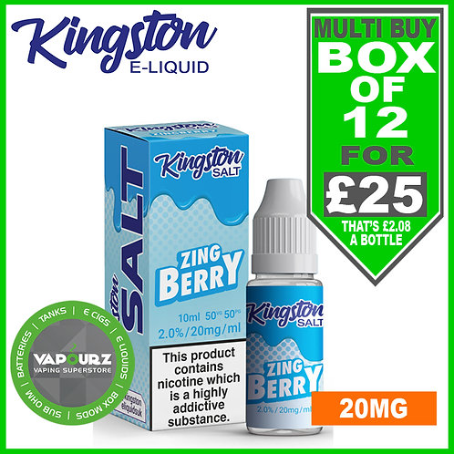 Box Deal Kingston Zingberry Nic Salt 20mg