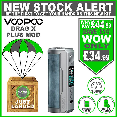 Voopoo Drag X Plus Mod Prussian Blue & FREE 18650 Battery