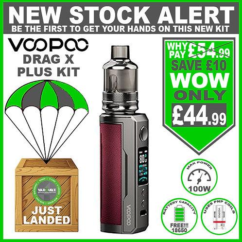 Voopoo Drag X Plus Kit Marsala & FREE 18650 Battery