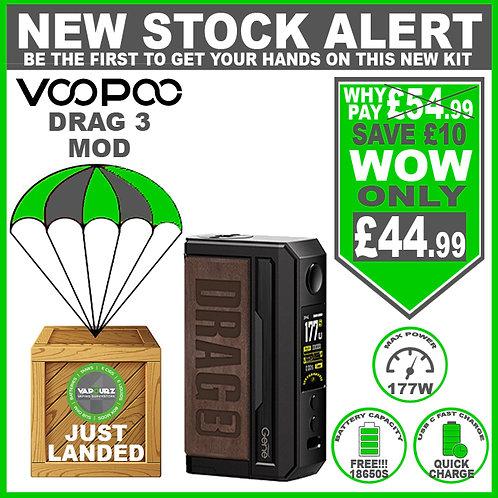 Voopoo Drag 3 Mod Sandy Brown & 2 FREE 18650 Batteries