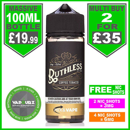 Coffee Tobacco Ruthless 100ml