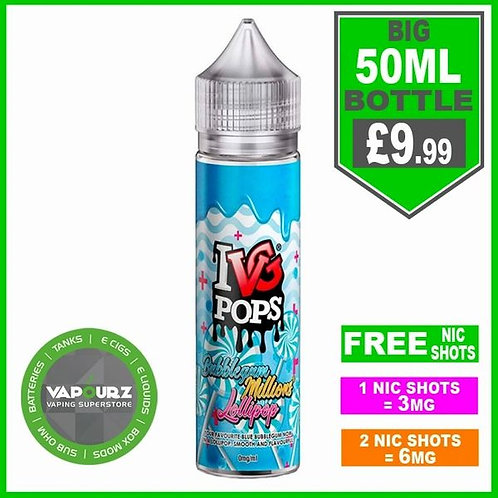 IVG Pops Bubblegum Lollipop 50ml