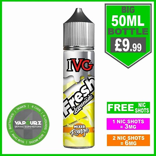 IVG Fresh Lemonade Mixer Range 50ml
