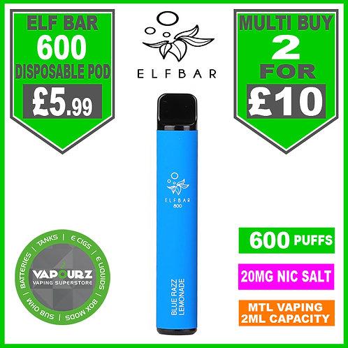 Elf Bar 600 Blue Razz Lemonade