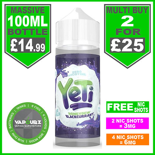 Honeydew Blackcurrant Yeti 100ml