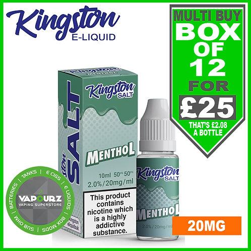 Box Deal Kingston Menthol Nic Salt 20mg