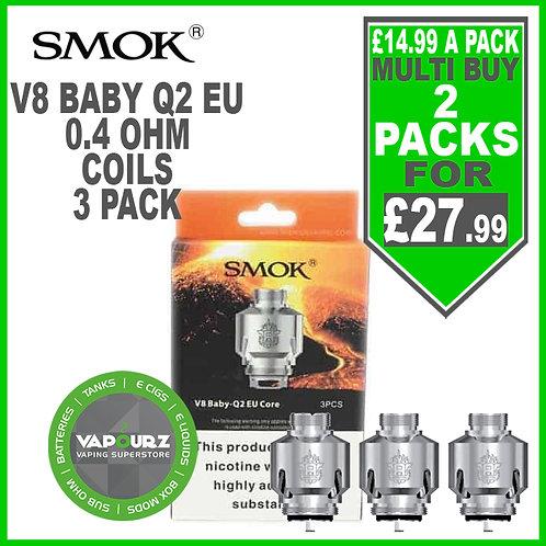 Smok V8 Baby Q2 EU Coils (3 Pack) 0.4ohm