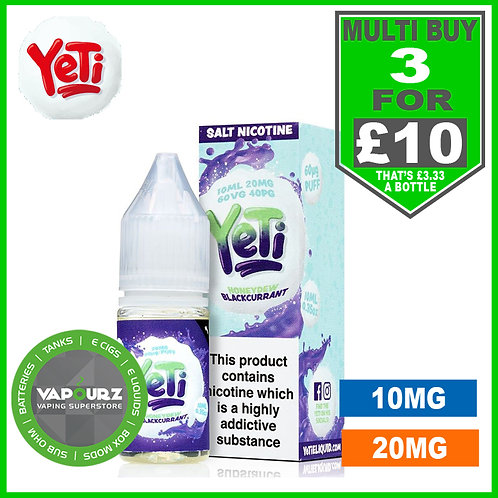 Honeydew Blackcurrant Yeti Nic Salts