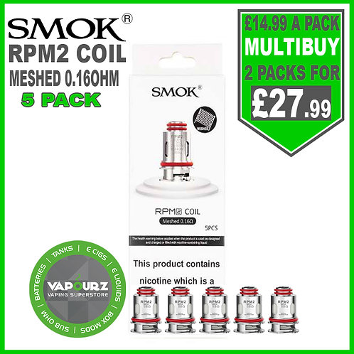Smok RPM2 Meshed 0.16 OHM Coils Pack of 5
