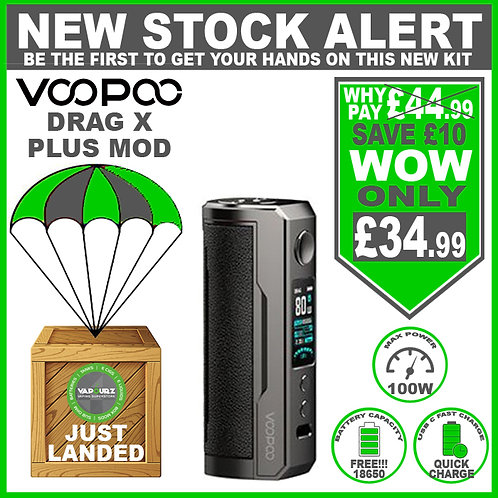 Voopoo Drag X Plus Mod Classic & FREE 18650 Battery